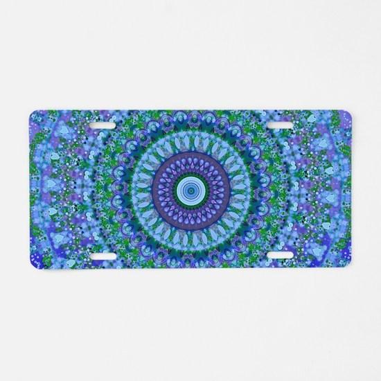 Blue Spirit Mandala Aluminum License Plate
