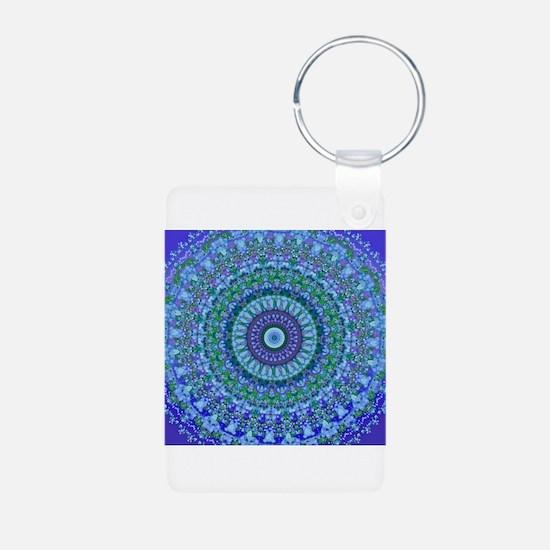 Blue Spirit Mandala Keychains