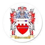 Osckleston Round Car Magnet