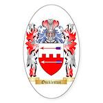 Osckleston Sticker (Oval 50 pk)