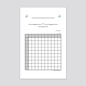 "Office Square Grid Pool - - -  11""x17"" Poster"