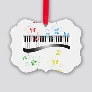 Butterfly piano music Picture Ornament