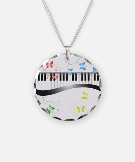 Butterfly piano music Necklace