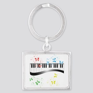 Butterfly piano music Keychains