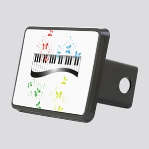 Butterfly piano music Rectangular Hitch Cover