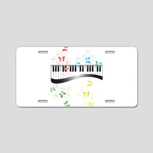 Butterfly piano music Aluminum License Plate