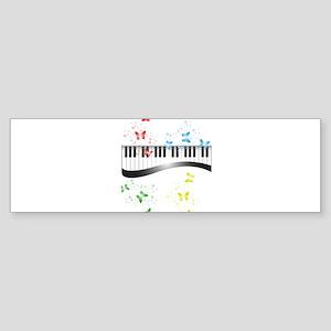 Butterfly piano music Bumper Sticker