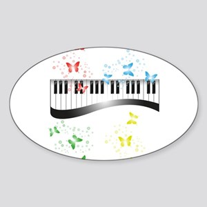Butterfly piano music Sticker
