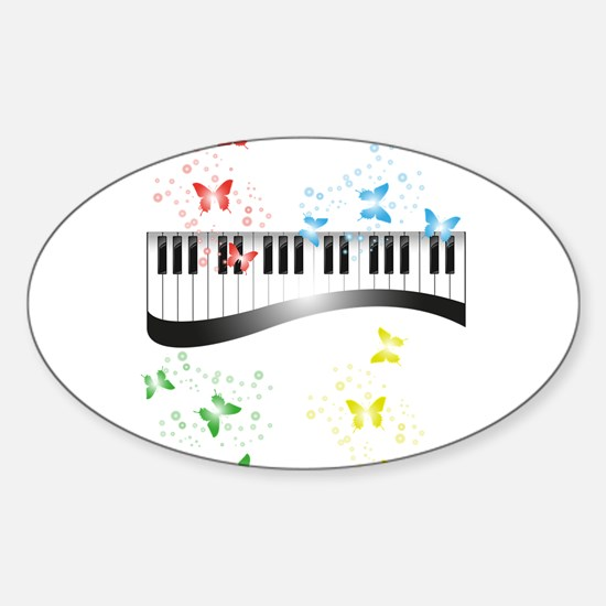 Butterfly piano music Decal