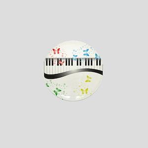 Butterfly piano music Mini Button