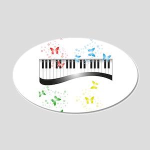 Butterfly piano music Wall Sticker