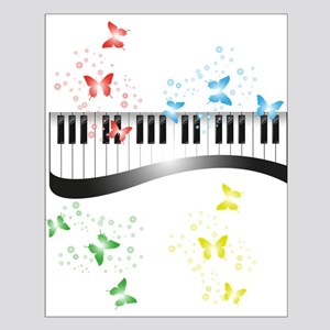 Butterfly piano music Poster Design