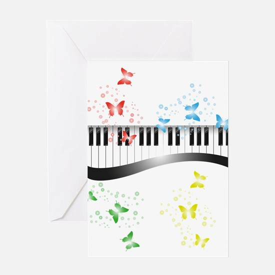 Butterfly piano music Greeting Cards