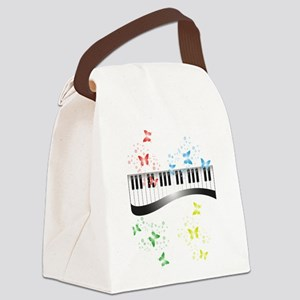 Butterfly piano music Canvas Lunch Bag