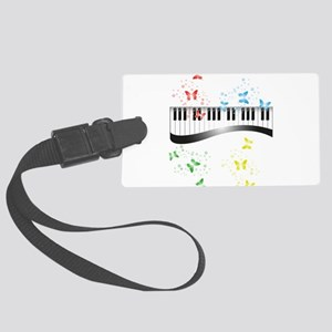 Butterfly piano music Large Luggage Tag
