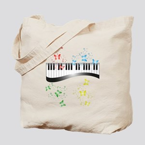 Butterfly piano music Tote Bag
