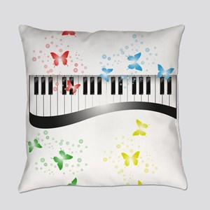 Butterfly piano music Everyday Pillow