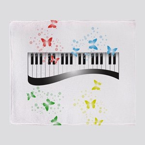 Butterfly piano music Throw Blanket
