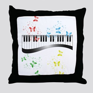 Butterfly piano music Throw Pillow