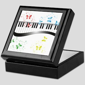 Butterfly piano music Keepsake Box