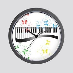 Butterfly piano music Wall Clock