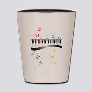 Butterfly piano music Shot Glass