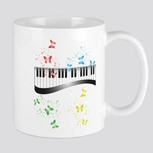 Butterfly piano music Mugs