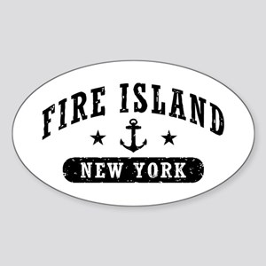 Fire Island NY Sticker (Oval)