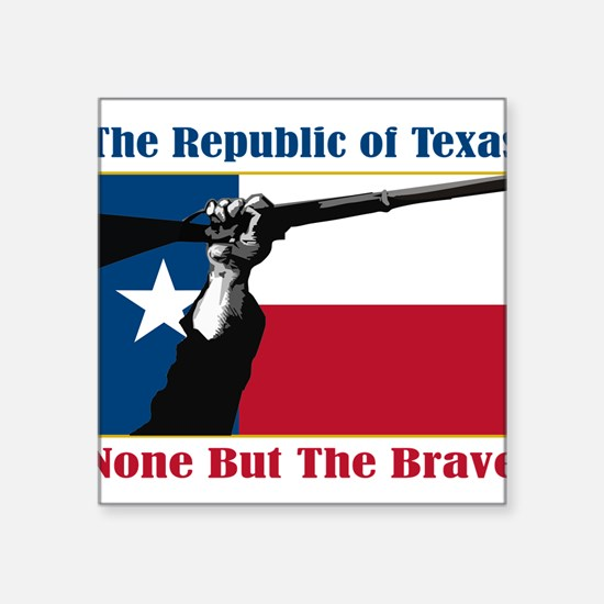 "Unique Texas secede Square Sticker 3"" x 3"""