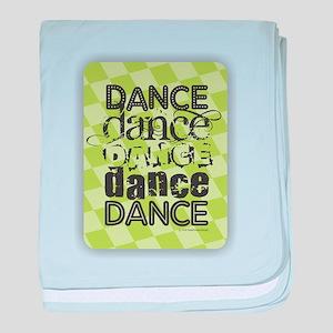 Dance Green baby blanket