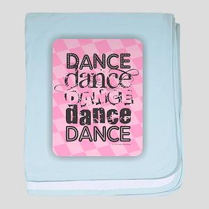 Dance Pink baby blanket