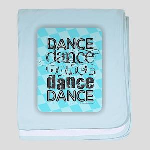 Dance Blue baby blanket