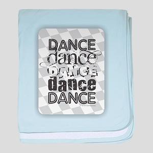 Dance White baby blanket