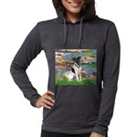 MP-LILIES2-FoxT-1 Womens Hooded Shirt