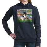 MP-LILIES2-FoxT-1 Women's Hooded Sweatshirt