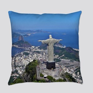 CHRIST ON CORCOVADO Everyday Pillow