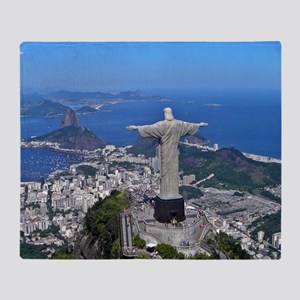 CHRIST ON CORCOVADO Throw Blanket