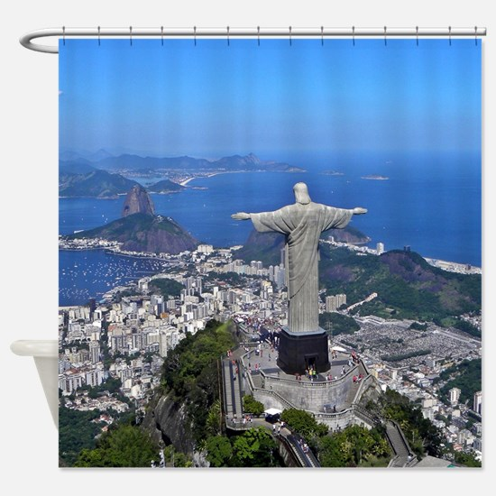 CHRIST ON CORCOVADO Shower Curtain
