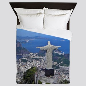 CHRIST ON CORCOVADO Queen Duvet