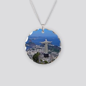 CHRIST ON CORCOVADO Necklace Circle Charm