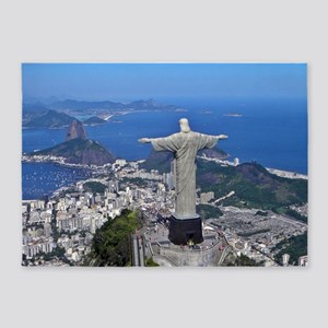 CHRIST ON CORCOVADO 5'x7'Area Rug