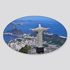 CHRIST ON CORCOVADO Sticker (Oval)