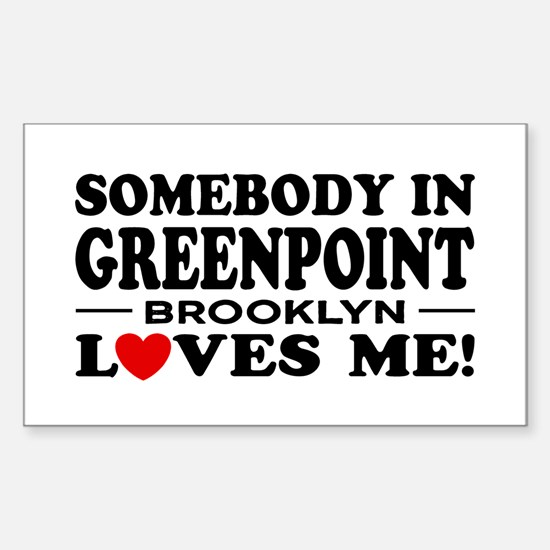 Greenpoint Brooklyn Sticker (Rectangle)