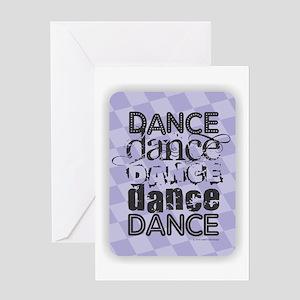 Dance Purple Greeting Cards