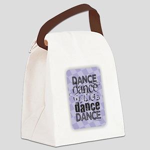Dance Purple Canvas Lunch Bag