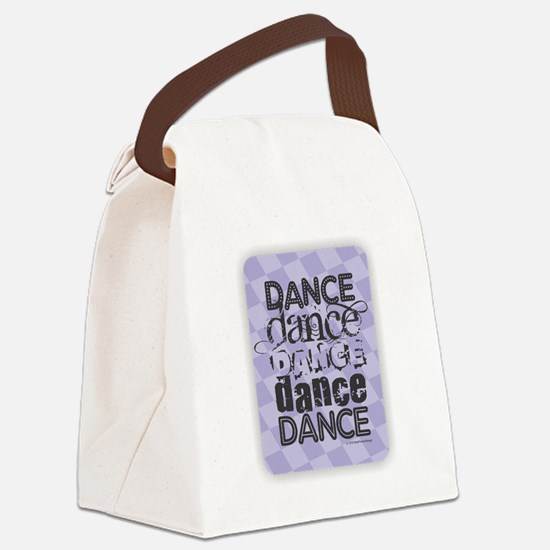 Dance Purple Canvas Lunch Bag