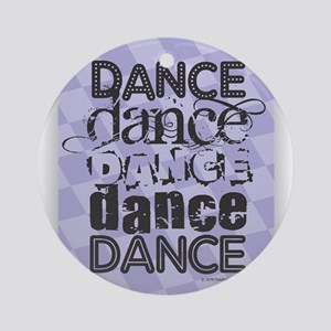 Dance Purple Round Ornament