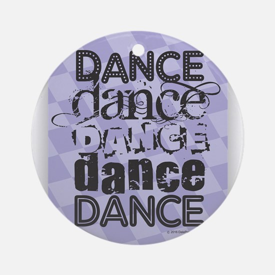 Dance Purple Round Ornament
