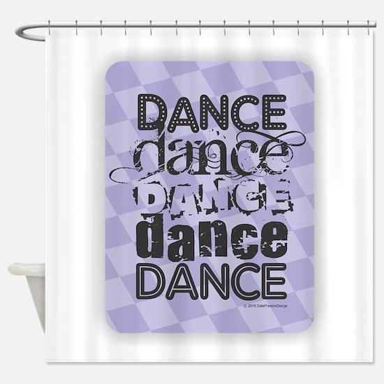 Dance Purple Shower Curtain