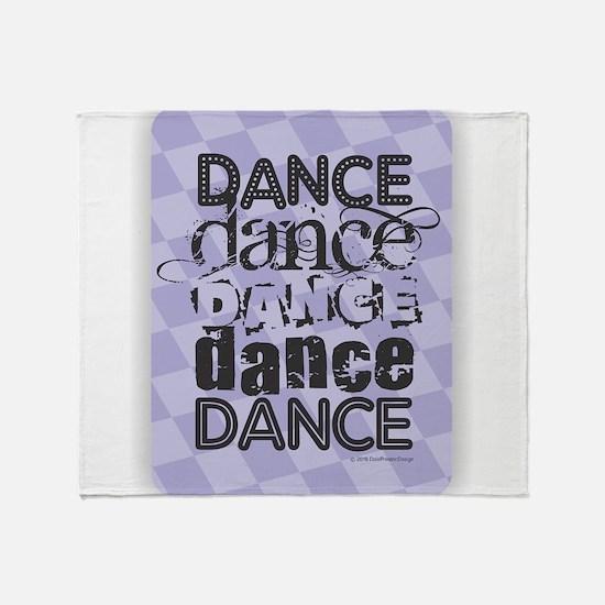 Dance Purple Throw Blanket
